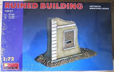"""MiniArt """"RUINED BUILDING"""" 1/72 scale"""