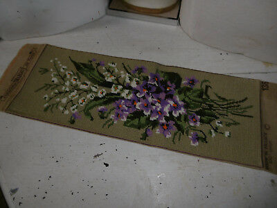 Vintage needlepoint tapestry floral picture completed, very good condition