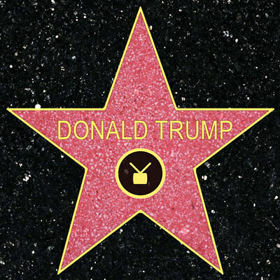 4x4 inch SQUARE Donald Trump Walk Of Fame Sticker -pro conservative no hollywood