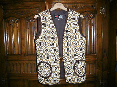 Vintage Welsh wool tapestry waistcoat size 14-16 very good condition