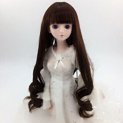Curly Long Hair Wig for 1/4 BJD LUTS DOD DZ MSD YOSD Dollfie Dolls Coffee