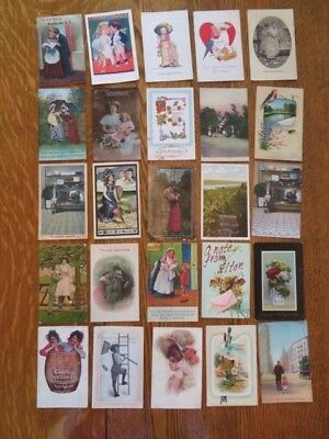 Mixed Lot Of 25 Antique And Vintage Postcards Early 1900s  #111