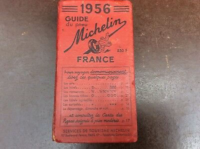 guide  rouge MICHELIN France  1956