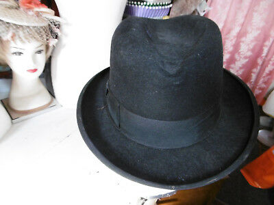 """Vintage fedora style hat by Battersby Diplomat size 22"""" used"""
