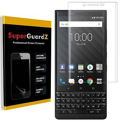 [3-PACK] BlackBerry KEY2 SuperGuardZ Clear FULL COVER Screen Protector Guard