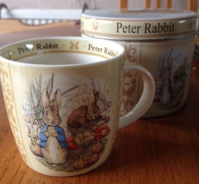 Beatrix Potter Peter Rabbit Queens Gifts Mug in tin Frederick Warne & Co 2010