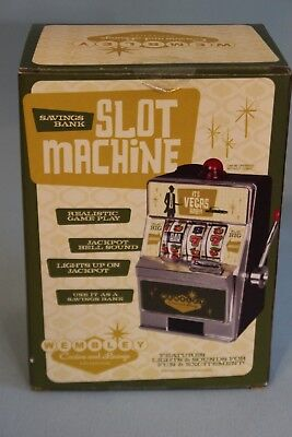 Slot Machine Bank By Wembley Casion New Open Box Working Slot w/ Lights & Sound