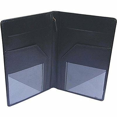 Genuine Personal Organizers Leather Server Book- Waiter Book-Black