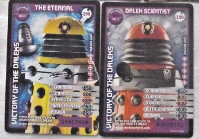 2 Super Rare Trading Cards - Doctor Who Monster Invasion Extreme - # 190 and 198