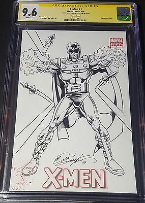 X-Men #1 Blank Cover CGC 9.6 SS Bob Layton with Sketch of Magneto!