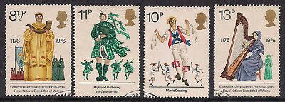 GB 1976 QE2 British Cultural Traditions set of 4 used stamps ( A1197 )