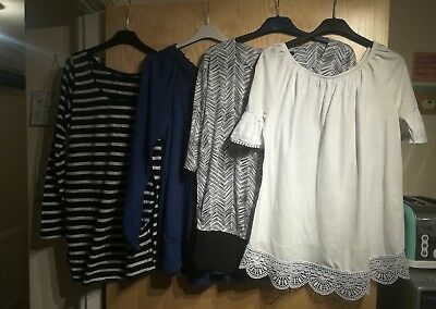 Bundle Of Maternity T-Shirts & Blouses. Size UK 12.  Newlook & George.. 4 Tops