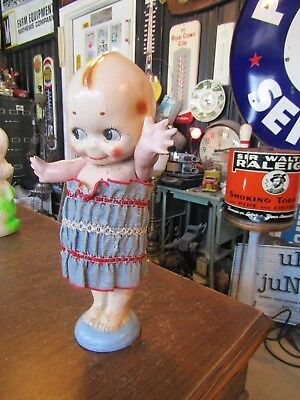 VTG Carnival Chalk Ware Prize Chalk Kewpie Doll with Movable Arms