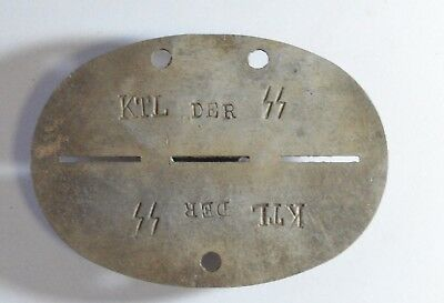 WW2 German Soldier Tag token. Training Company 2 Panzer Division