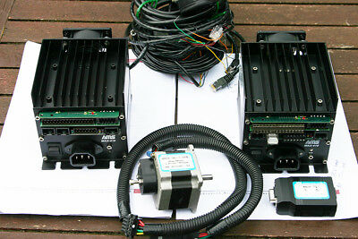Advanced Micro Systems x2 MAX-410 Stepper Motor Controllers + Interface Hardware
