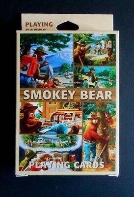 """NEW """"SMOKEY BEAR PLAYING CARDS""""  UNUSED IN BOX  each value has it's own photo"""