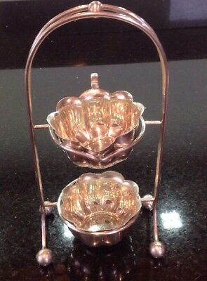 Vintage Silver Plate Milk Jug & Sugar Bowl On Bespoke Stand By John Taylor & Co