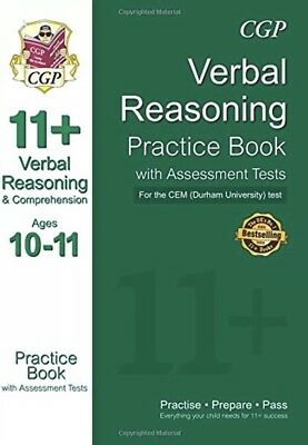 Cgp 11+'Eleven Plus Verbal Reasoning Practice Book Assessment Tests Ages 10-11