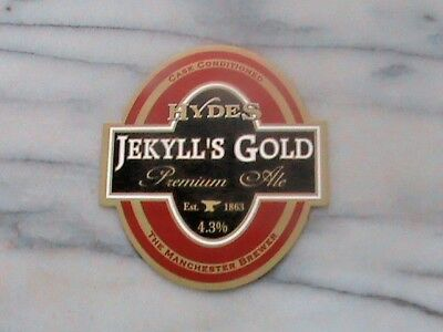 Hydes Jekyll's Gold Real Ale Beer Pump Clip Sign