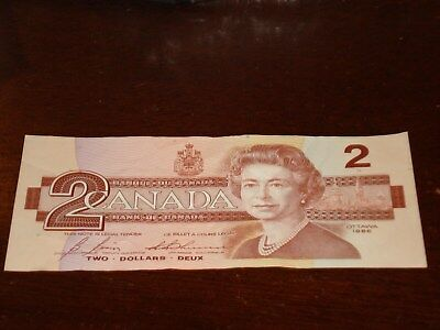 1986 - Canada $2 bank note - Canadian two dollar bill - EGT9648509