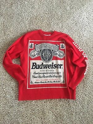 Budweiser Vintage King Of Beers Genuine Men's Sweater Size XL