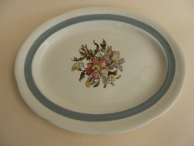 """Crown Ducal Oval Serving Plate 11.75"""" x 9.25"""""""