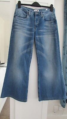 Tommy Hilfiger Super Wide Flared Jeans Sz W 30 L 30 Rare Monreo