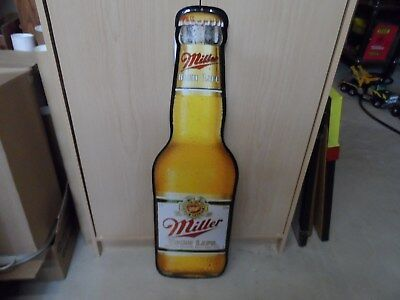 "Miller High Life Beer Bottle Sign 30"" Tall X 9"" Wide"
