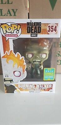 Pop Funko The Walking Dead Amc Burning Walker 354 2016 Sdcc Exclusive