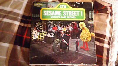 Vintage childrens albums .Sesame street Scooby Doo Lot of 3 records
