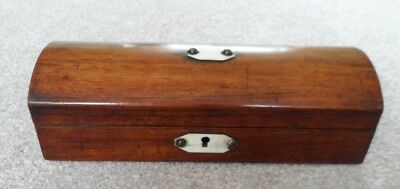 Antique Victorian rosewood glove? box with a rectangular shape and domed top.