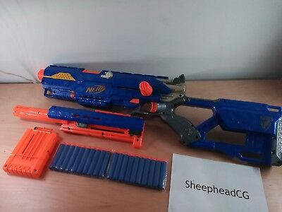 Nerf Gun Longstrike CS-6 Sniper Rifle + Barrel + Magazine + 20 Bullets - Tested!