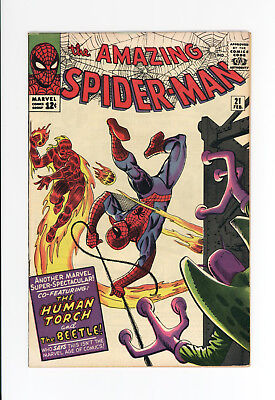 Amazing Spider-Man #21 - High Grade Vf 8.0 - Awesome Cover And Art - The Beetle