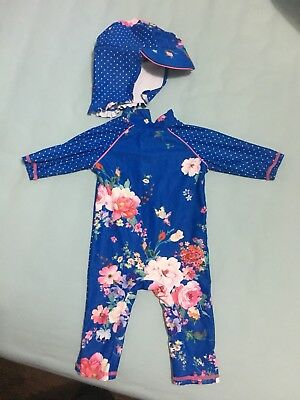 Mini Club (boots) baby girls Swim suit, size 9-12 months New No Tags
