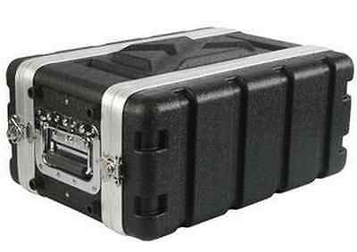 Shallow 4U Space Rack Case, 8 inch Deep Shell, Amp Effects ABS w rack screws