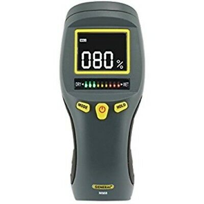 General Tools Pinless LCD Moisture Meter w Tricolor Bar Graph MM8 FAST SHIP!