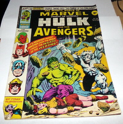 The Mighty World of Marvel_#199_Bronze Age Comic_UK Variant_Hulk_1976