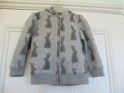 18-24m: Cute zip-thru hoodie: Grey bunnies: Baby Gap: Good condition