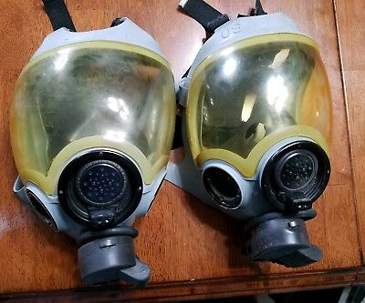 Vintage Military Police Gas Masks Lot of 2