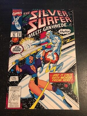 Silver Surfer#81 Incredible Condition 9.2(1993) Ganymede App, Lim Art!!