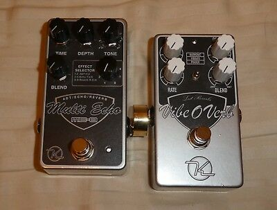 Keeley Multi Echo ME-8 delay, reverb + Keeley Vibe-O-Verb guitar effect pedals
