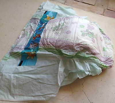 Genuine Plastic Xxl Size 6 Baby Diaper Nappy Vintage Pampers Style Ab Dl Adult