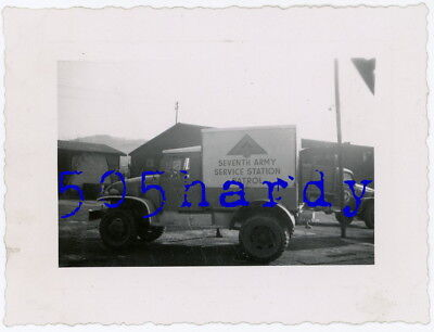 WWII US GI Photo - 7th Army Dodge WC Service Station Patrol Truck - TOP!