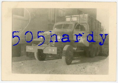"""WWII US GI Photo - 7th Army Marked GMC CCKW """"Mary Jane"""" Photo Owners Truck"""
