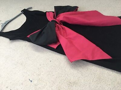 3 X Dress And Play suit, Black Pink Bow, Lipsy Blue, Red Motel Rocks Size 6 8