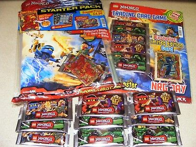 LEGO NINJAGO  trading card STARTER PACK, MULTIPACK & 9 EXTRA SEALED PACKETS