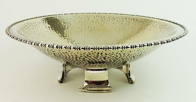 ARTS & CRAFTS HAMMERED SILVER PLATED BOWL c1910's