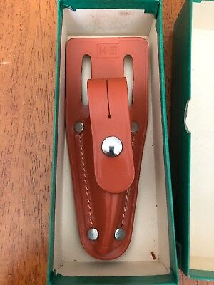 K&E Keuffel Esser Plumb Bob Leather Holster In Box