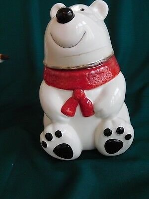 New Polar Bear Cookie Jar Never Been Opened Original Sealing Type And Tags