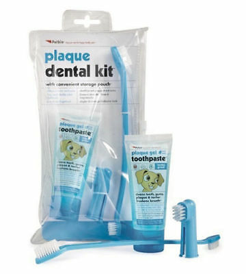 Petkin Dog Dental Kit Toothpaste & Brushes Cleans Teeth Gums Plaque and Tartar